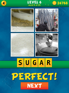 4 Pics 1 Word Puzzle - What's That Word Level 6 Word 6 Solution