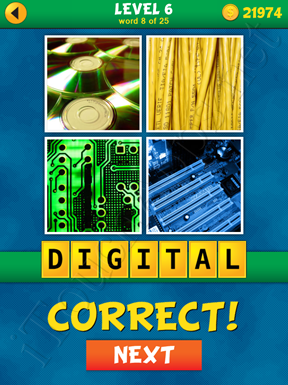4 Pics 1 Word Puzzle - What's That Word Level 6 Word 8 Solution