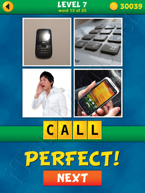 4 Pics 1 Word Puzzle - What's That Word Level 7 Word 13 Solution
