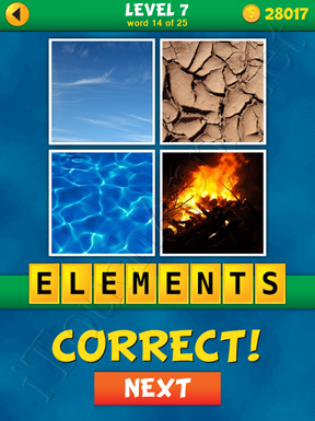 4 Pics 1 Word Puzzle - What's That Word Level 7 Word 14 Solution