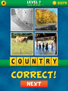 4 Pics 1 Word Puzzle - What's That Word Level 7 Word 18 Solution