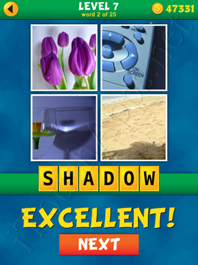4 Pics 1 Word Puzzle - What's That Word Level 7 Word 2 Solution