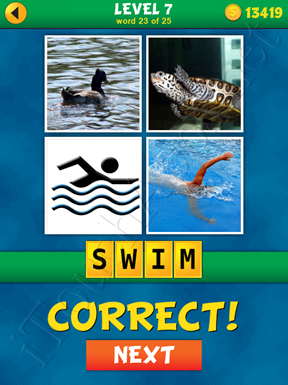4 Pics 1 Word Puzzle - What's That Word Level 7 Word 23 Solution