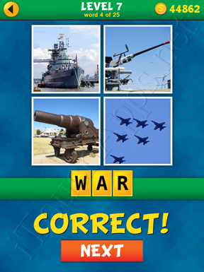 4 Pics 1 Word Puzzle - What's That Word Level 7 Word 4 Solution