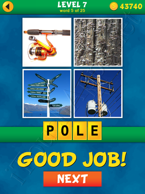 4 Pics 1 Word Puzzle - What's That Word Level 7 Word 5 Solution