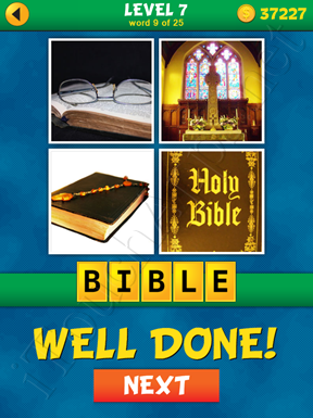 4 Pics 1 Word Puzzle - What's That Word Level 7 Word 9 Solution