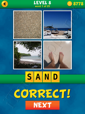 4 Pics 1 Word Puzzle - What's That Word Level 8 Word 1 Solution