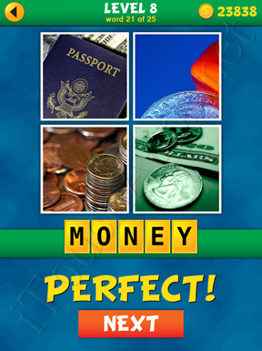4 Pics 1 Word Puzzle - What's That Word Level 8 Word 21 Solution