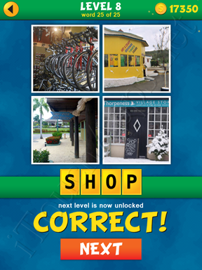 4 Pics 1 Word Puzzle - What's That Word Level 8 Word 25 Solution