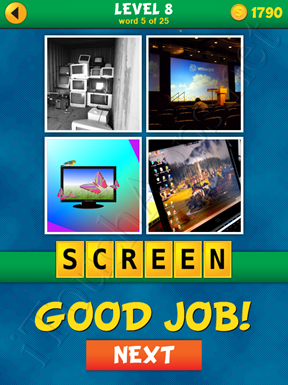 4 Pics 1 Word Puzzle - What's That Word Level 8 Word 5 Solution