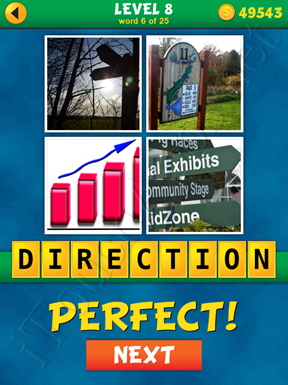 4 Pics 1 Word Puzzle - What's That Word Level 8 Word 6 Solution