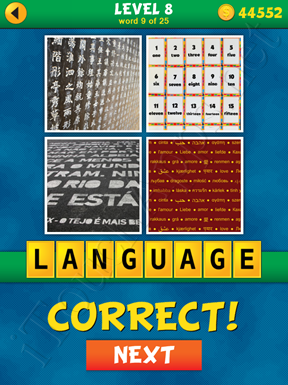 4 Pics 1 Word Puzzle - What's That Word Level 8 Word 9 Solution