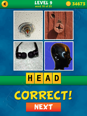 4 Pics 1 Word Puzzle - What's That Word Level 9 Word 16 Solution