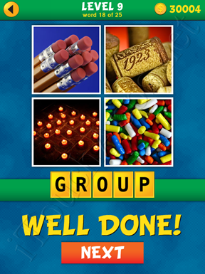 4 Pics 1 Word Puzzle - What's That Word Level 9 Word 18 Solution
