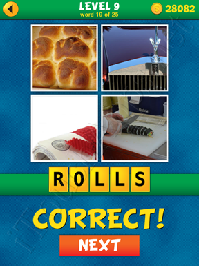 4 Pics 1 Word Puzzle - What's That Word Level 9 Word 19 Solution