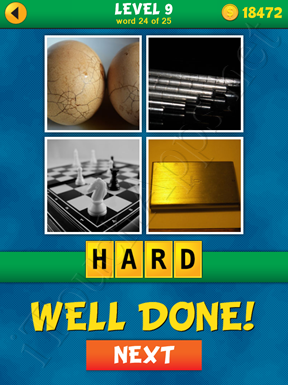 4 Pics 1 Word Puzzle - What's That Word Level 9 Word 24 Solution