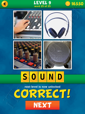 4 Pics 1 Word Puzzle - What's That Word Level 9 Word 25 Solution
