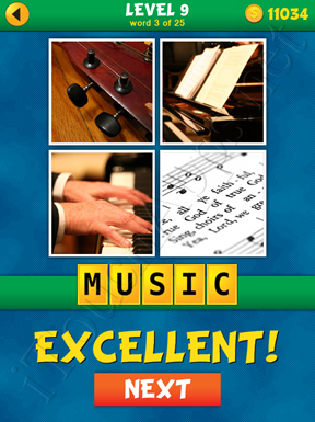 4 Pics 1 Word Puzzle - What's That Word Level 9 Word 3 Solution