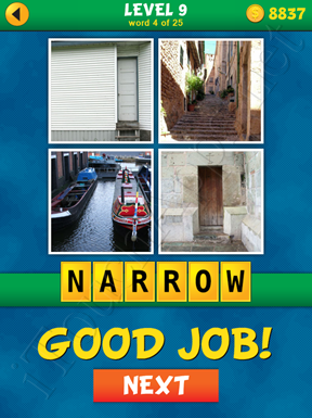 4 Pics 1 Word Puzzle - What's That Word Level 9 Word 4 Solution