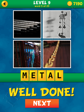 4 Pics 1 Word Puzzle - What's That Word Level 9 Word 5 Solution
