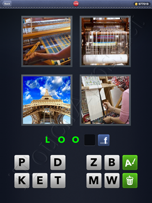 4 Pics 1 Word Level 1176 Solution