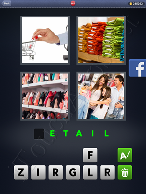 4 Pics 1 Word Level 3117 Solution