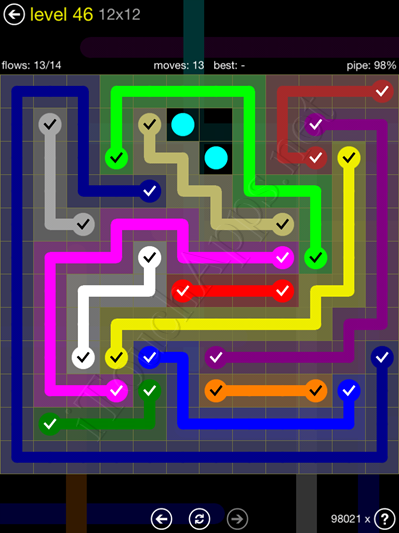 Flow Game 12x12 Mania Pack Level 46 Solution
