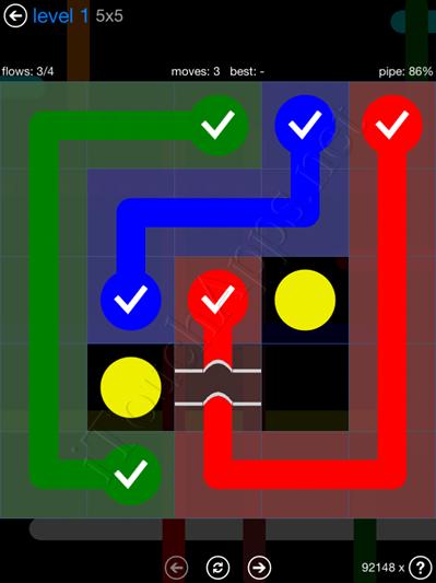 Flow Bridges Blue Pack Cheat / Walkthrough / Solutions