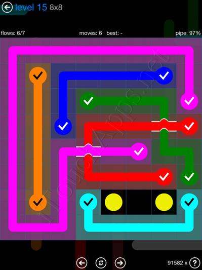 Flow Bridges Blue Pack 8x8 Level 15 Solution