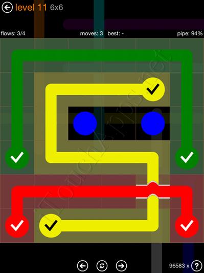 Flow Bridges Pack 6 x 6 Level 11 Solution