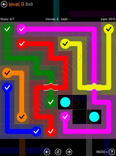 Flow Bridges Pack 8 x 8 Level 9 Solution