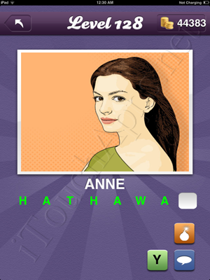 Guess the Celeb Level 128 Answer
