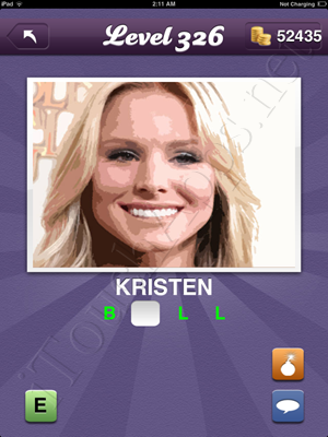 Guess the Celeb Level 326 Answer
