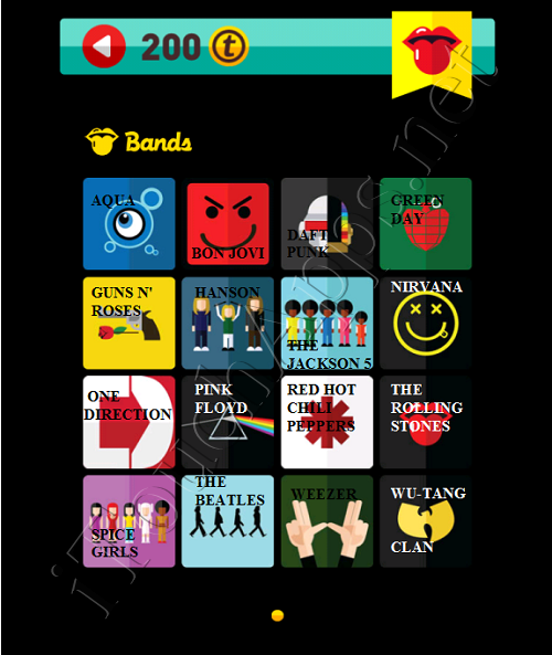 Icon Pop Quiz Game Weekend Specials Bands Answers / Solutions