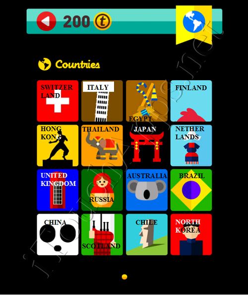 Icon Pop Quiz Game Weekend Specials Countries Answers / Solutions
