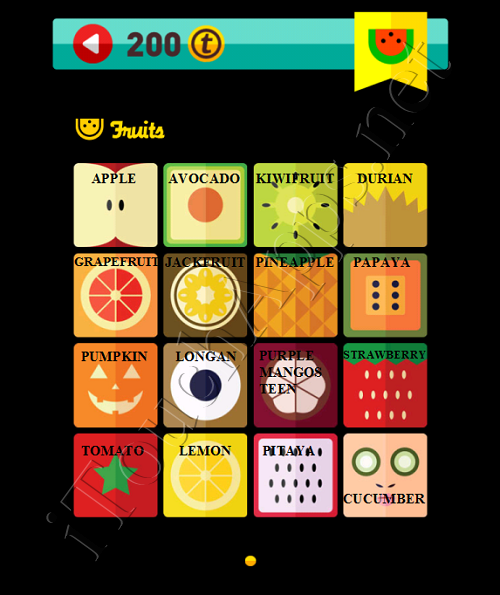 Icon Pop Quiz Game Weekend Specials Fruits Answers / Solutions