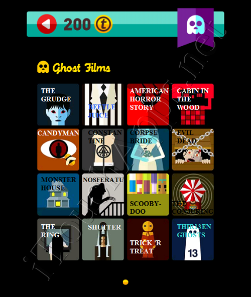 Icon Pop Quiz Game Weekend Specials Ghost Films Answers / Solutions