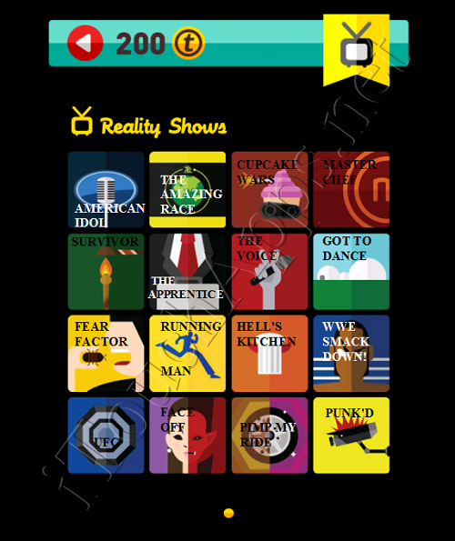 Icon Pop Quiz Game Weekend Specials Reality Shows Answers / Solutions