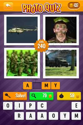 Photo Quiz Arcade Pack Level 240 Solution