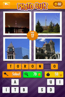 Photo Quiz Cities Pack Level 17 Solution