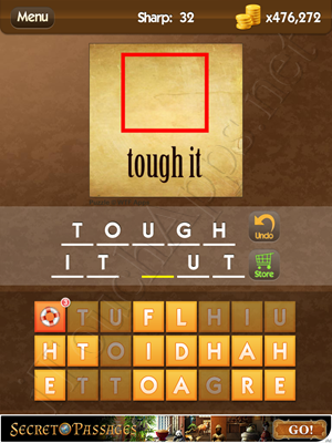 What's the Saying Sharp Level 32 Answer