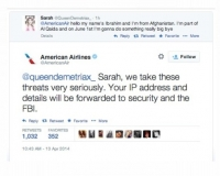 What Happens When You Tweet a Terrorist Threat to an Airlane