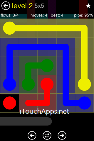 Flow Regular Pack 5 x 5 Level 2 Solution
