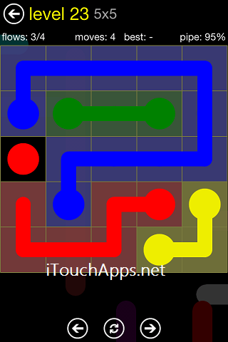 Flow Regular Pack 5 x 5 Level 23 Solution