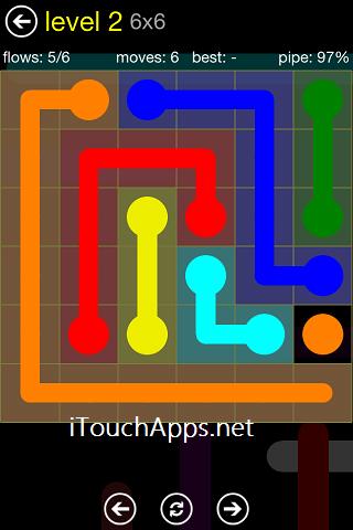 Flow Regular Pack 6 x 6 Level 2 Solution