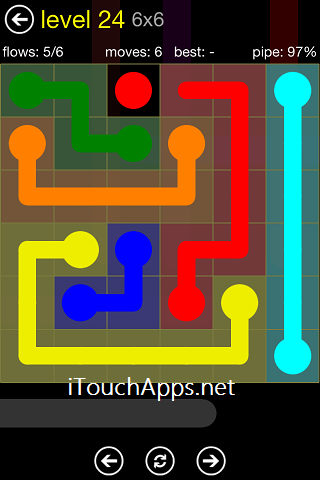 Flow Regular Pack 6 x 6 Level 24 Solution