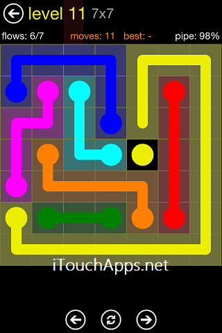Flow Regular Pack 7 x 7 Level 11 Solution
