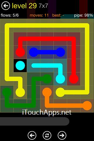 Flow Regular Pack 7 x 7 Level 29 Solution