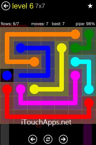 Flow Regular Pack 7 x 7 Level 6 Solution