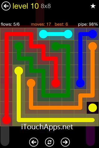 Flow Regular Pack 8 x 8 Level 10 Solution